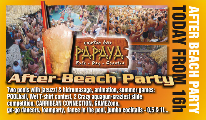 Partyurlaub - Zrce Beach - Club Papaya