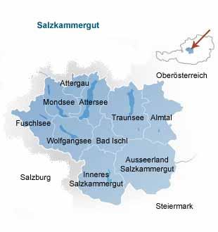 Salzkammergut Karte.Osterreich Salzkammergut Steiermark Salzburg Oberosterreich