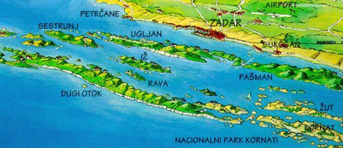 Vir Island Croatia Map