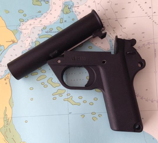 ausführliche Beschreibung: Signalraketenpistole Cal. 4